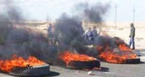 الصخيرة: إشعال العجلات المطاطية وغلق مقر المعتمدية على خلفية مناظرة للمجمع الكيمياوي