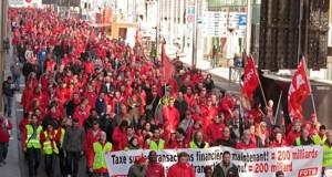 بروكسل: عشرات الآلاف يتظاهرون ضد سياسات التقشّف
