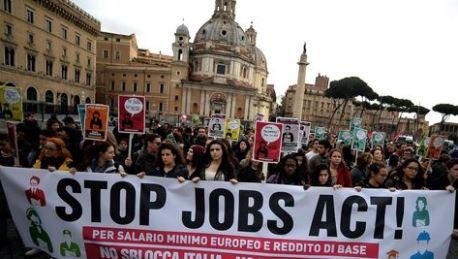 إيطاليا: العمّال يدخلون في إضراب عام احتجاجا على إصلاح سوق الشغل