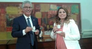قهوة عربي مع الناطق الرسمي بأسم الجبهة الشعبية حمة الهمامي