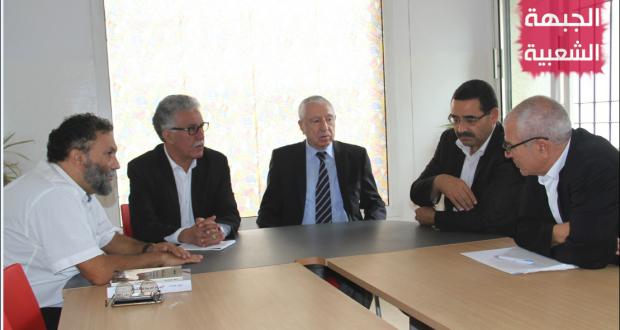 الأمين العام للجبهة الديمقراطية لتحرير فلسطين نايف حواتمة في ضيافة الجبهة الشعبيّة
