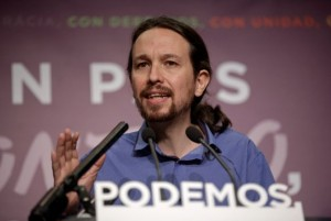 Podemos party leader Iglesias speaks during a news conference in Madrid