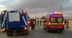 قابس: حادث مرور مريع يخلف قتيلين وحوالي 30 جريحا