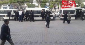 عــــــــاجل: تعزيزات أمنية كبيرة تحاصر مقر الاتحاد العام لطلبة تونس