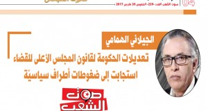 الجيلاني الهمامي: تعديلات الحكومة لقانون المجلس الأعلى للقضاء استجابت إلى ضغوطات أطراف سياسيّة