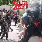 طلبة الحقوق يحتجون سلميا بالقصبة و الأمن يعتدي عليهم بالعنف :