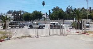 تدخل البوليس في جامعة صفاقس لفض اعتصام الدكاترة و طلبة الدكتوراه