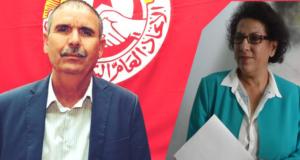 الأمين العام للاتحاد العام التونسي للشغل السيد نور الدين الطبوبي يساند الاستاذة راضية النصراوي