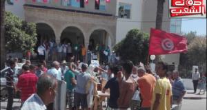 القلعة الصغرى: الأهالي يستقبلون الوالي بوقفة احتجاجية
