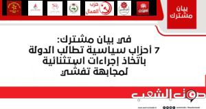 """في بيان مشترك: 7 أحزاب سياسية تطالب الدولة باتّخاذ إجراءات استثنائية لمجابهة تفشّي فيروس""""كورونا"""""""