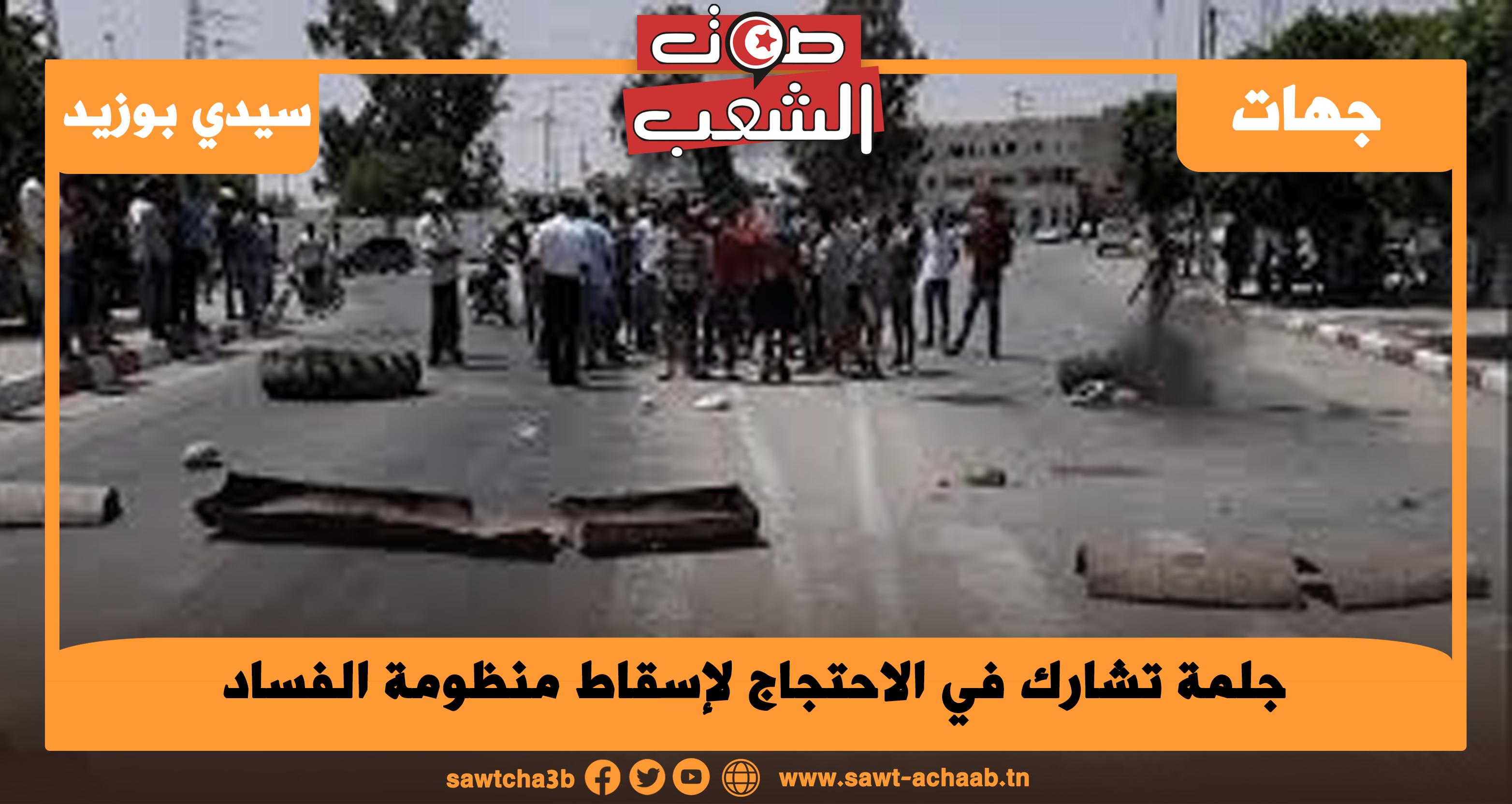 جلمة تشارك في الاحتجاج لإسقاط منظومة الفساد